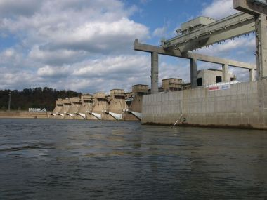 Hydro project at Willow Island Locks and Dam (Photo by Jim Foss / for the State Journal)