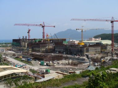 Lungmen nuclear plant, before construction was stopped (Photo by Mastehr, public domain, Wikimedia Commons)