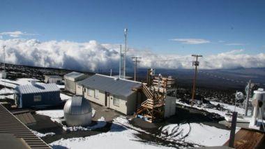 Air sampling station at Mauna Loa observatory (NOAA photo)