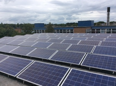 Rooftop solar system in Edinburgh (Image: Emtec Energy)