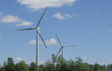 Wind turbines in New England