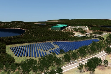 Solar array in Armonk (Photo courtesy of Swiss Re)