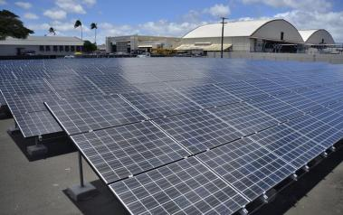 Solar PVs in Hawaii (US Navy public domain image)