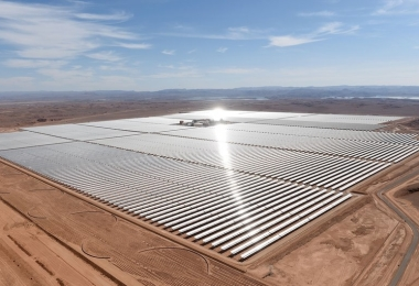 The Noor solar plant in Morocco (Photo Credit: NPR)