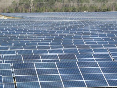 Solar field at a VW plant in Chattanooga
