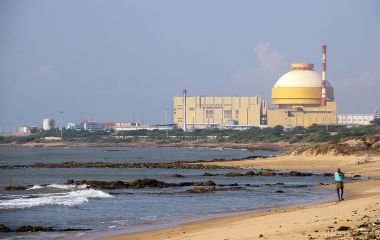 Kudankulam Nuclear Plant (Photo via indiawaterportal.org, CC BY SA, Wikimedia Commons)