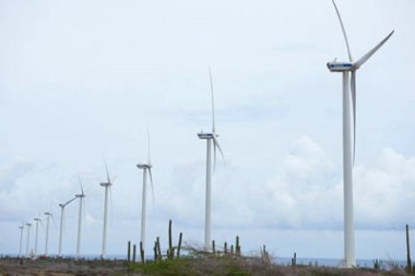 The Vader Piet wind farm in Aruba (Justin Locke)
