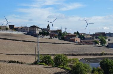 Wind farm in Catalonia, Spain (Photo by Maria Rosa Ferre, CC BY SA, Wikimedia Commons)