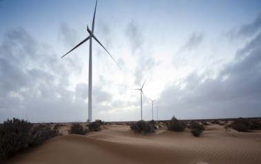 The 301-MW Tarfaya wind farm on Morocco's southern Atlantic coast