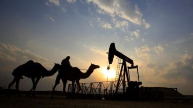 Oil well and camels