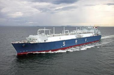 An LNG carrier operated by Mitsui OSK Lines
