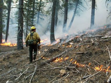 Prescribed burn in California (CN Skinner / US Forest Service)