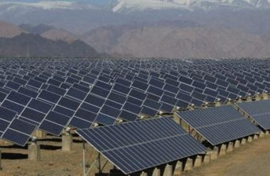 Solar farm in Africa (AFP image)