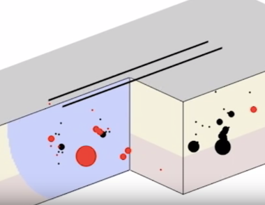 Illustration of fault  (cropped screenshot, University of Calgary)