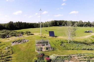 Pika Energy wind turbine on a farm in Maine  (Pika Energy photo)