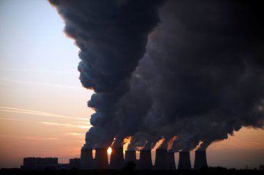 Cooling towers and steam at a coal-burning plant  (Pawel Kopczynski / Reuters)
