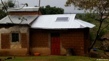 Solar panel on a roof in Kenya