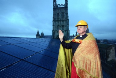 Blessing the PVs (Photo via GloucestershireLive)