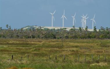 Wind farm in Brazil (Author: Otávio Nogueira, CC BY SA)