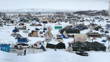 Snow covers the camp on November 30.