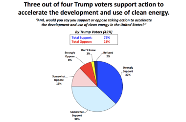 (out of four Trump voters support clean energy)