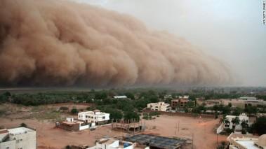 Dust storm approaching Khartoum