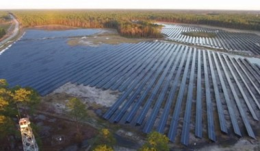 Solar farm at Fort Stewart  (Image: Lt Col Brian Fickel, 3rd Infantry Division)