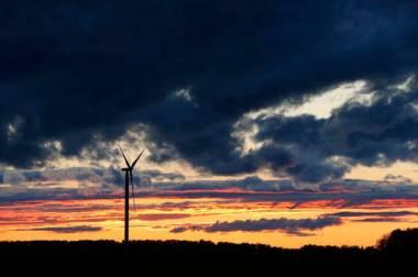 Wind turbine near Caseville, Michigan (Paul Sancya AP Photo)