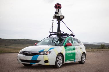 Google Street View mapping car (Courtesy Environmental Defense Fund)