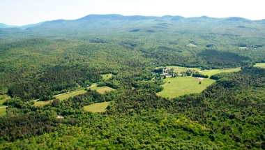 Middlebury College maintains a 2,100-acres forest preserve for sequestering carbon. (Photo by Brett Simison)