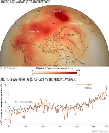 Arctic warming (NOAA image)