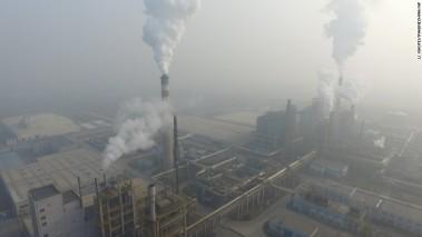 Smoke from a Tianjin factory