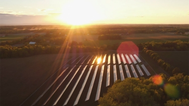 Solar Array providing 10% of Ithaca College's needs  (Photo courtesy of Ithaca College)
