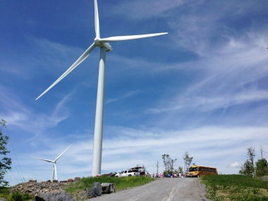 Turbines of Vermont's Georgia Wind project
