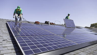 Solar panel installation (SolarCity)