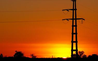 Power lines in Argentina