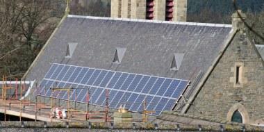 PVs on a Scottish church (Photo credit: Eco-Congregation Scotland)