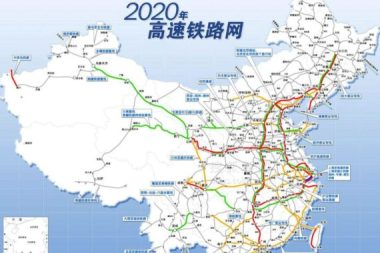 High-speed rail map of China