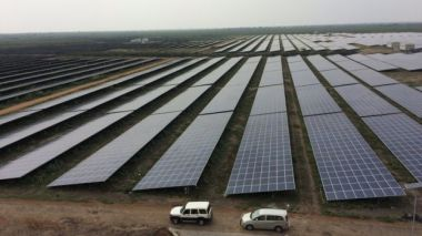 The world's largest solar farm at Kamuthi in southern India