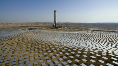 Solar tower in the Negev desert (AP / Oded Balilty)