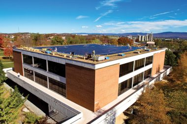 A 104-kW solar array in Eastern Mennonite University's microgrid
