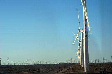 Wind farm in Guazhou (Photo: Popolon, Wikimedia Commons)