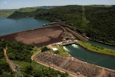 The Chavantes hydroelectric plant in Brazil's Sao Paulo state (AP)