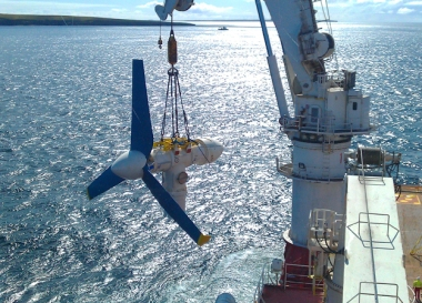 Tidal turbine installation (Image: Atlantis Resources)