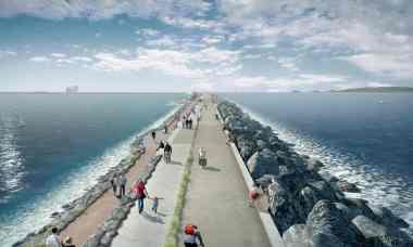 Swansea Bay tidal lagoon (Artwork: Tidal Lagoon Power/PA)