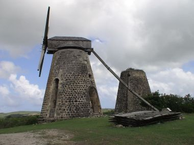 Antigua's wind power may soon be updated.  (Photo by Ragingwhitebuffalo, Wikimedia Commons)