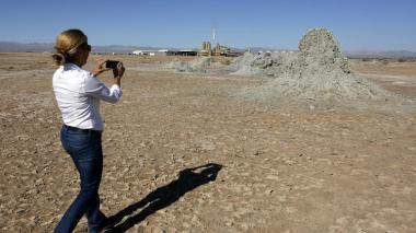 Geothermal energy forms mud mounds near the Salton Sea. (Mark Boster / Los Angeles Times)