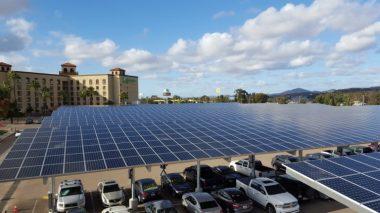 Solar canopies (photo via Whitehouse.gov, by Joe Garrido)
