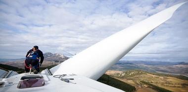 Wind turbine in Wyoming (Image: Power Company of Wyoming)