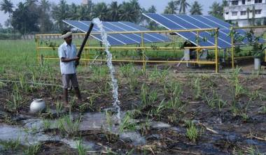 Solar power providing water (Photo: CH Vijaya Bhaskar)